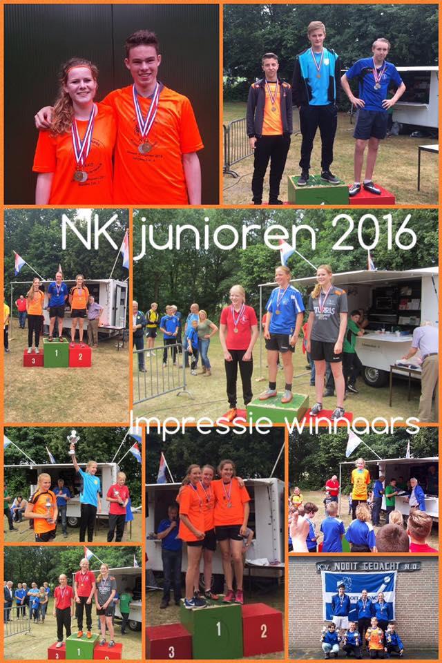 Uitslagen NK junioren 2016