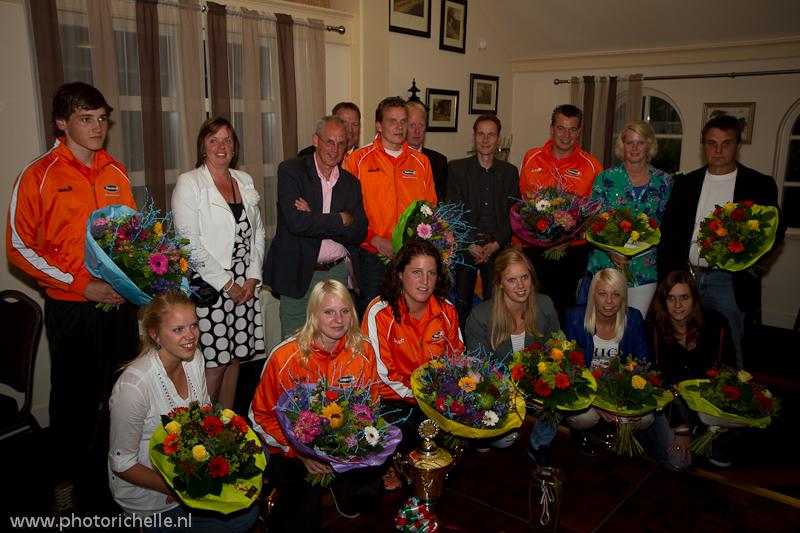 Huldiging medaillewinnaars EK Klootschieten