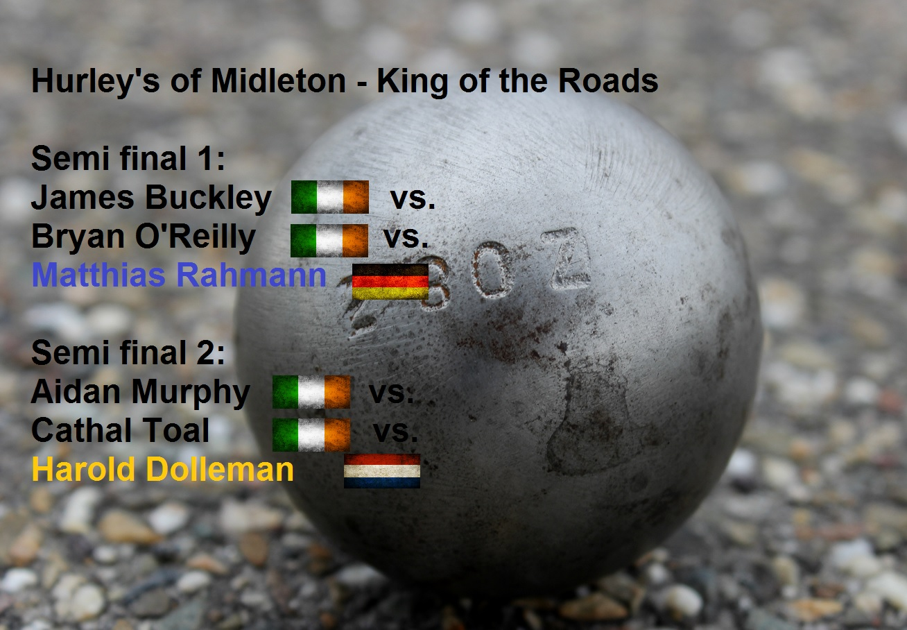 Loting halve finales King of the Roads