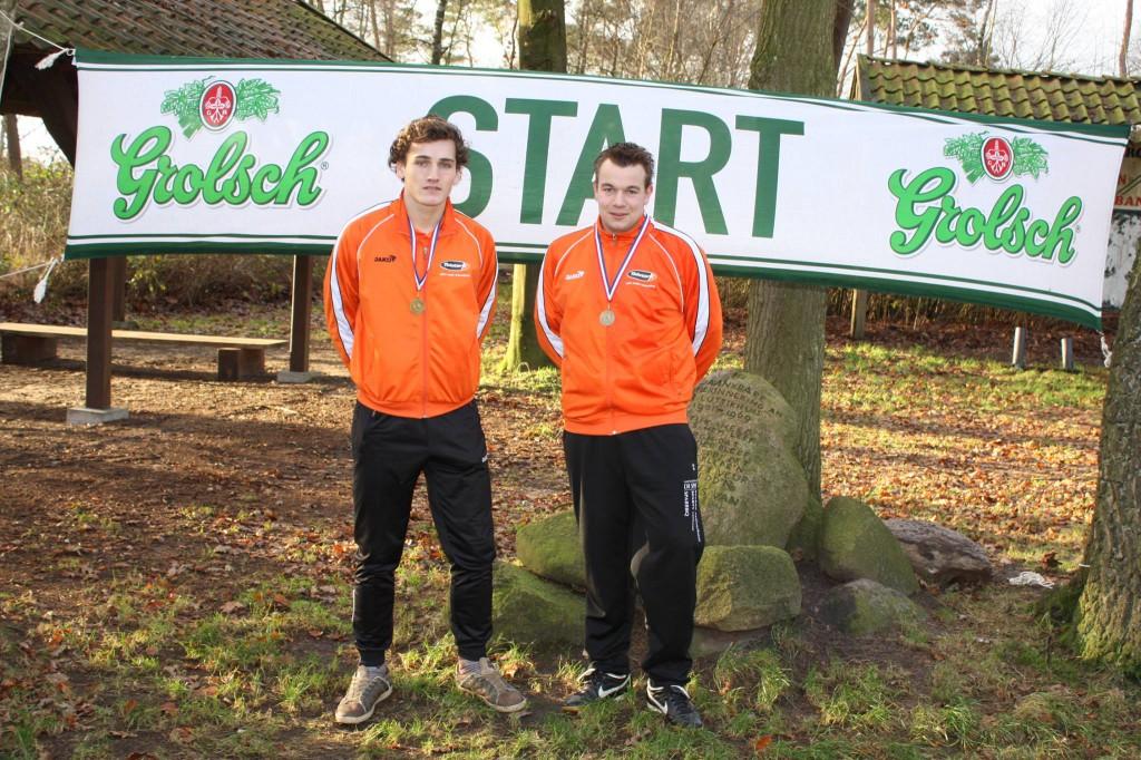 Melle Analbers (winnaar zetten) en Rob Scholten (winnaar veld)