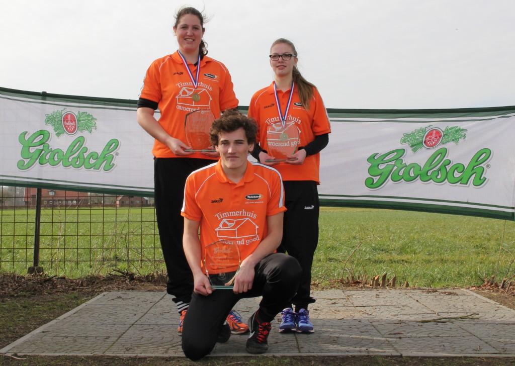Allroundwinnaars (Silke, Lisa, Melle)