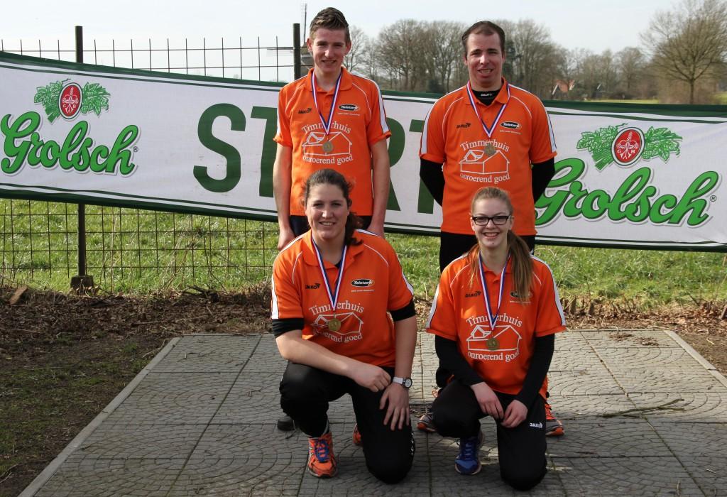 Winnaars Champions Tour Straat (Mark, Jos-Bert, Silke en Lisa)